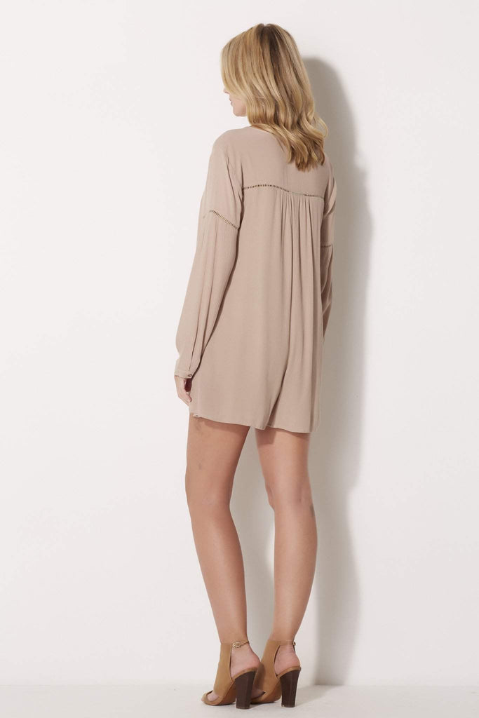 Long Sleeve Taupe Romper