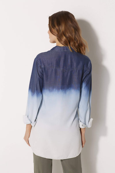 Bella Dahl Ombre Single Pocket Button Down - rear