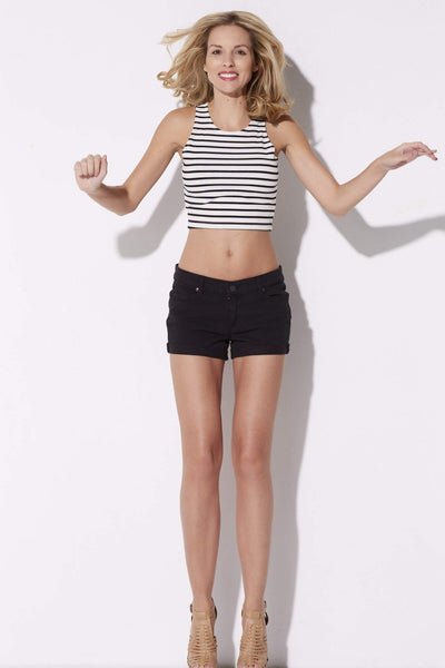 Stripe Knit Crop