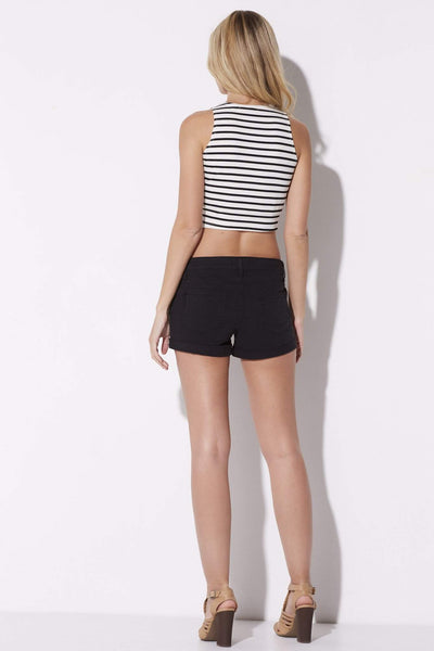 Bishop + Young - Stripe Knit Crop - rear