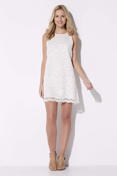 Cupcakes & Cashmere - Ivory Lace Dress - front