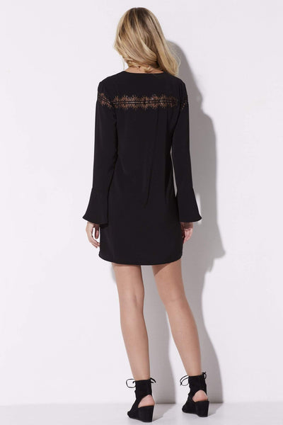 Black Lace Detail Dress