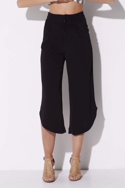 Black Asymmetrical Pants