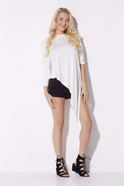 White Asymmetrical Top