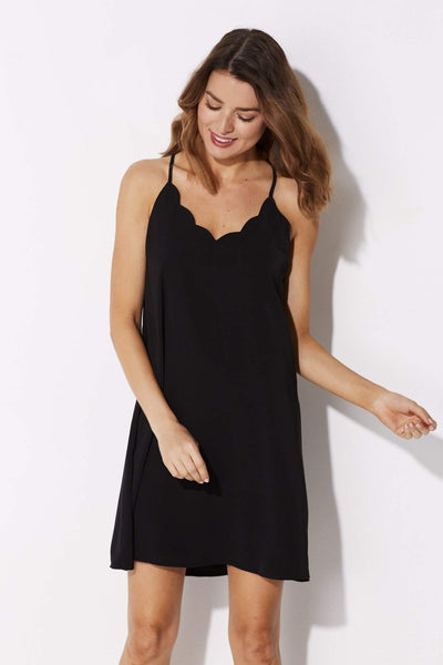 Coverii - Black Scalloped Dress