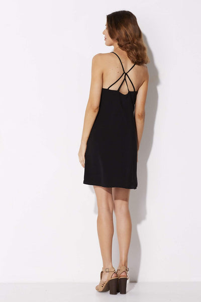 Coverii - Black Scalloped Dress - rear