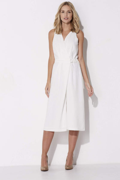 Adelyn Rae - White Culotte Jumpsuit - front
