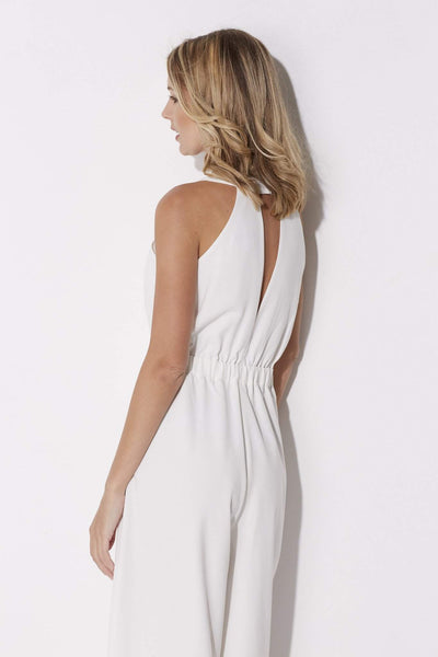Adelyn Rae - White Culotte Jumpsuit - rear