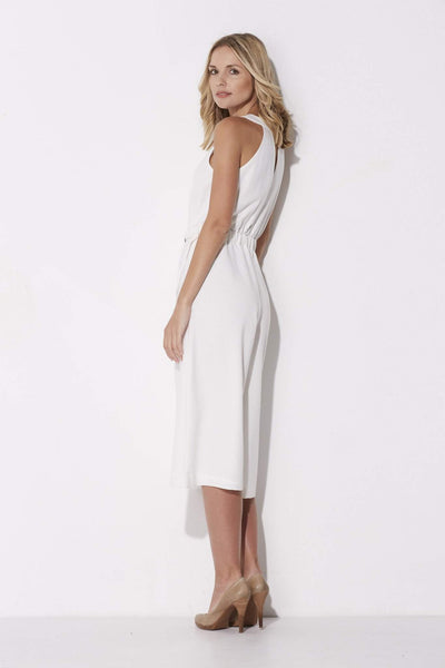 Adelyn Rae - White Culotte Jumpsuit - side