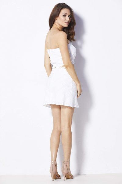 Lucca Couture White Crop Top - Back