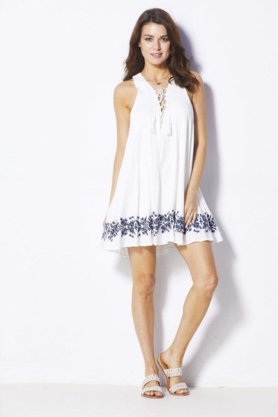 Show Me Your Mumu Daryn Lace Up Dress - Front