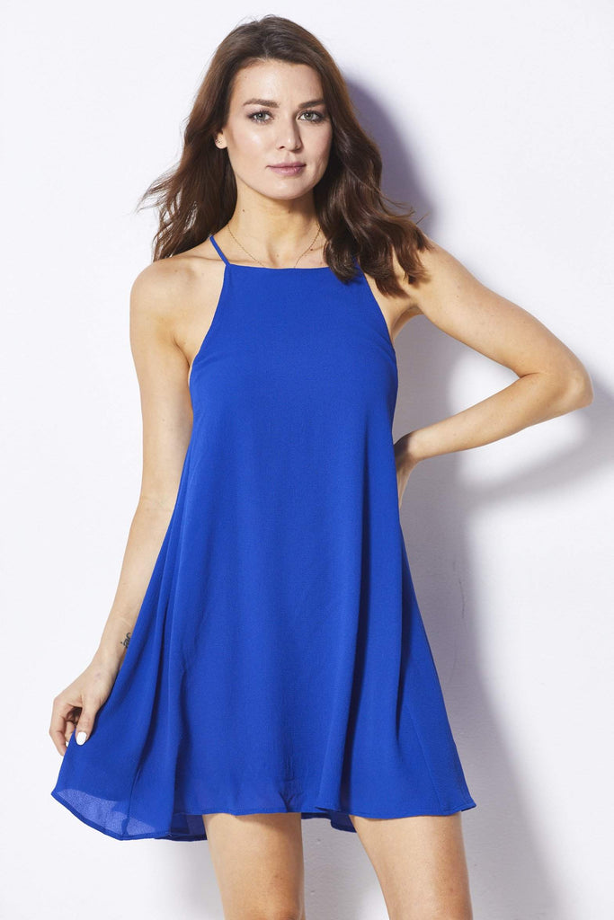 Caramella Blue Apron Dress - Front