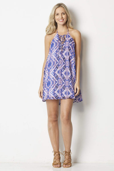 Show Me Your Mumu  Lo Lace Up Mini Dress  - Front
