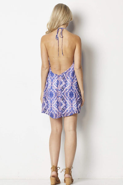 Show Me Your Mumu  Lo Lace Up Mini Dress - Back