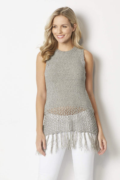 Bishop & Young Heather gray knit tank sweater - Front
