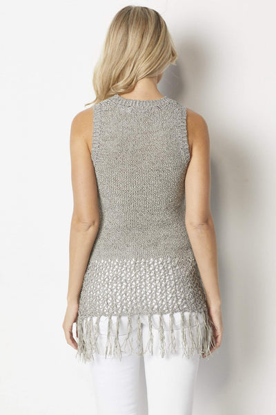 Bishop & Young Heather gray knit tank sweater - Back