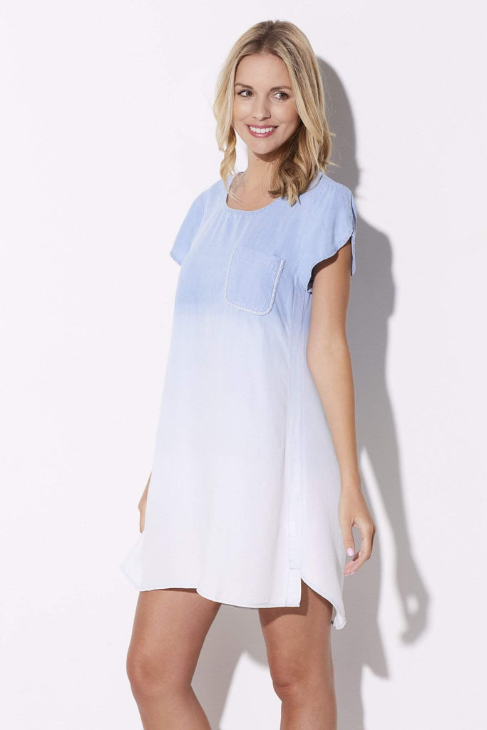 Ombre Chambray Dress