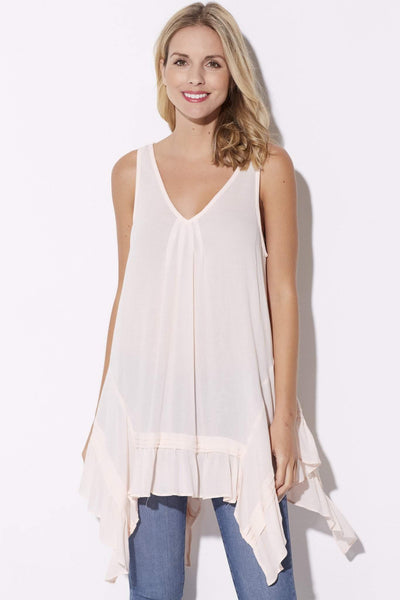 Blush Handkerchief Tunic