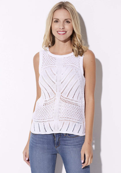 Cupcakes & Cashmere - Eyelet Sweater Tank - front