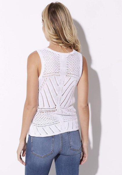 Cupcakes & Cashmere - Eyelet Sweater Tank - rear