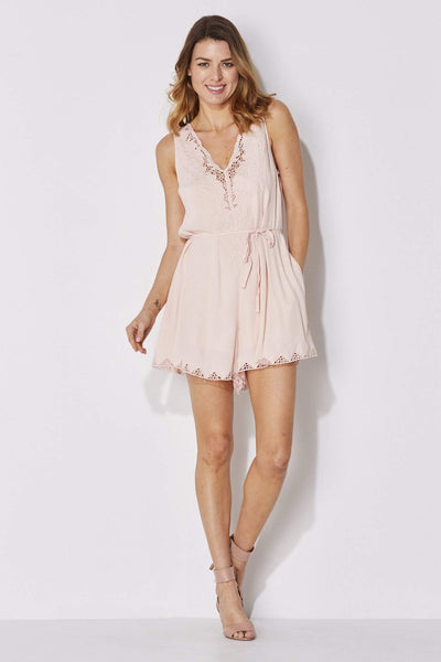 Blush Lace Romper