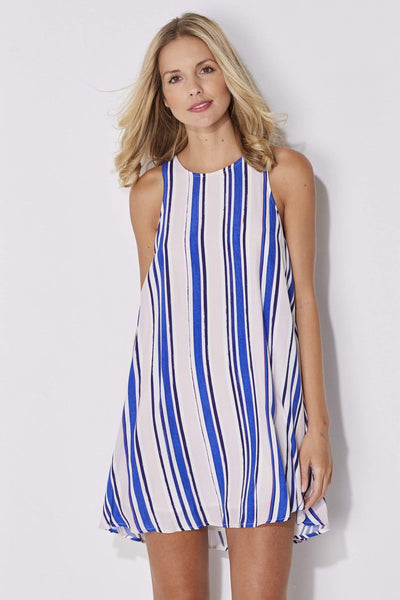 Blue Stripe Swing Dress