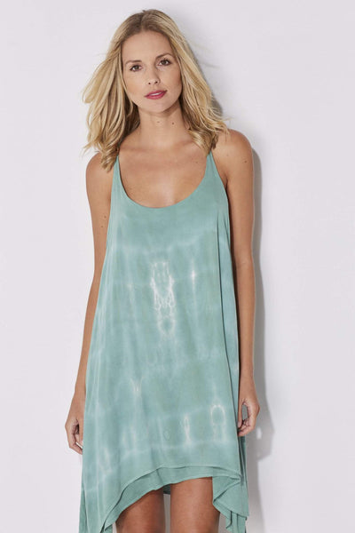 Bishop + Young - Seafoam Tie Dye Dress - front, closer up