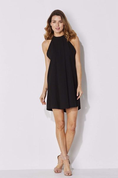 Bishop + Young - High Neck Black Dress - front