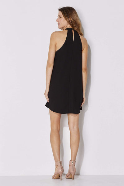 Bishop + Young - High Neck Black Dress - rear