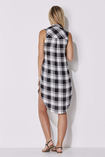 Plaid Side Split Tunic
