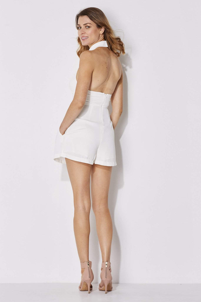 Endless Rose - Keyhole Neck Romper - rear