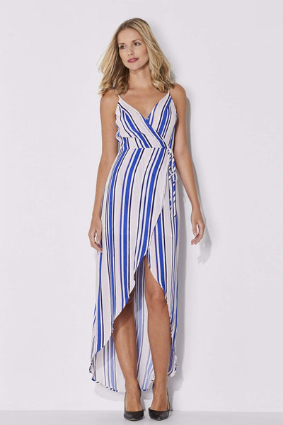 ASTR - Blush and Blue Stripe Maxi - front