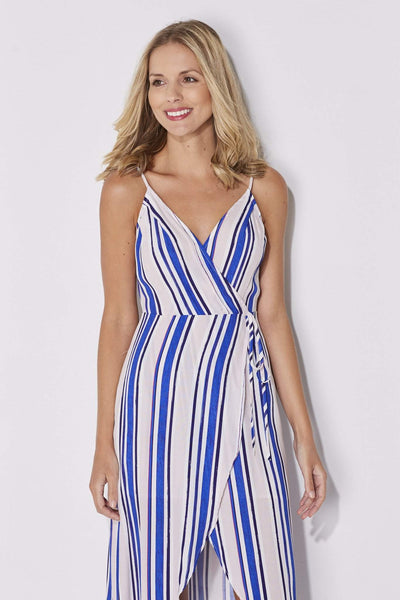 ASTR - Blush and Blue Stripe Maxi