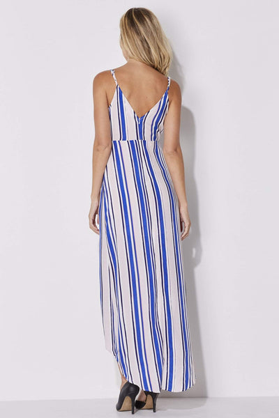 ASTR - Blush and Blue Stripe Maxi - rear