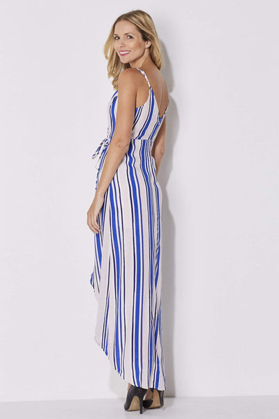 ASTR - Blush and Blue Stripe Maxi - side