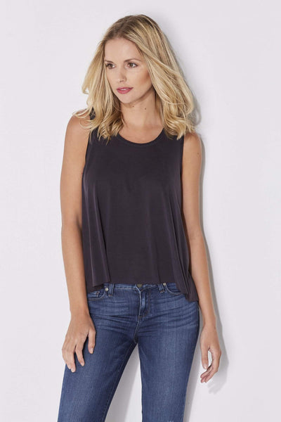 Charcoal Flowy Crop Top