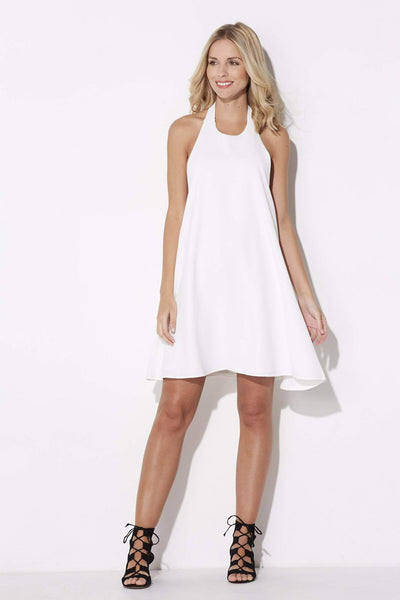 Coverii - White Halter Dress - front