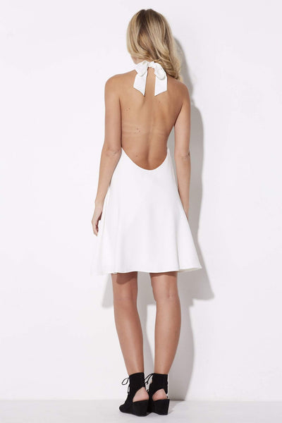 Coverii - White Halter Dress - rear