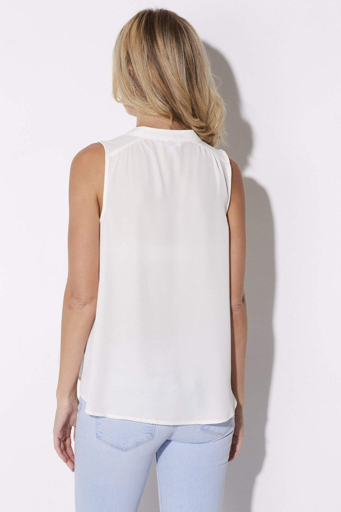 Jack - Ivory Sleeveless Blouse - rear