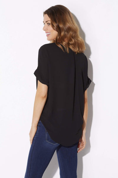 Short Sleeve Surplice Top