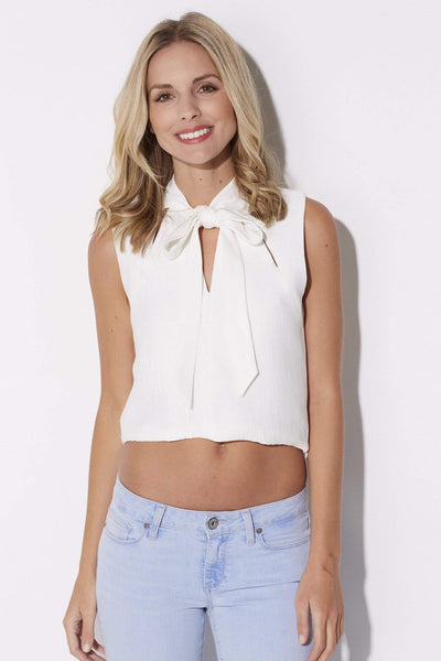 Endless Rose - Tie Neck Crop Top - front
