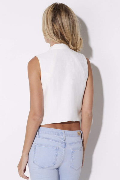 Endless Rose - Tie Neck Crop Top - rear