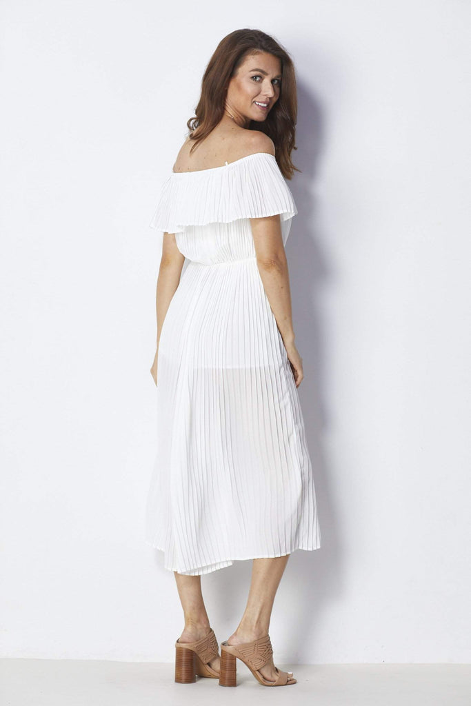 Endless Rose White Pleated Jumpsuit - Back