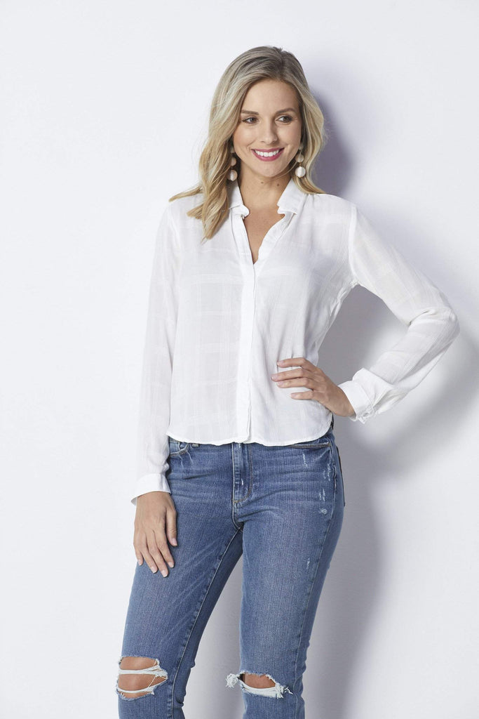 Bella Dahl High Low Button Down - Front