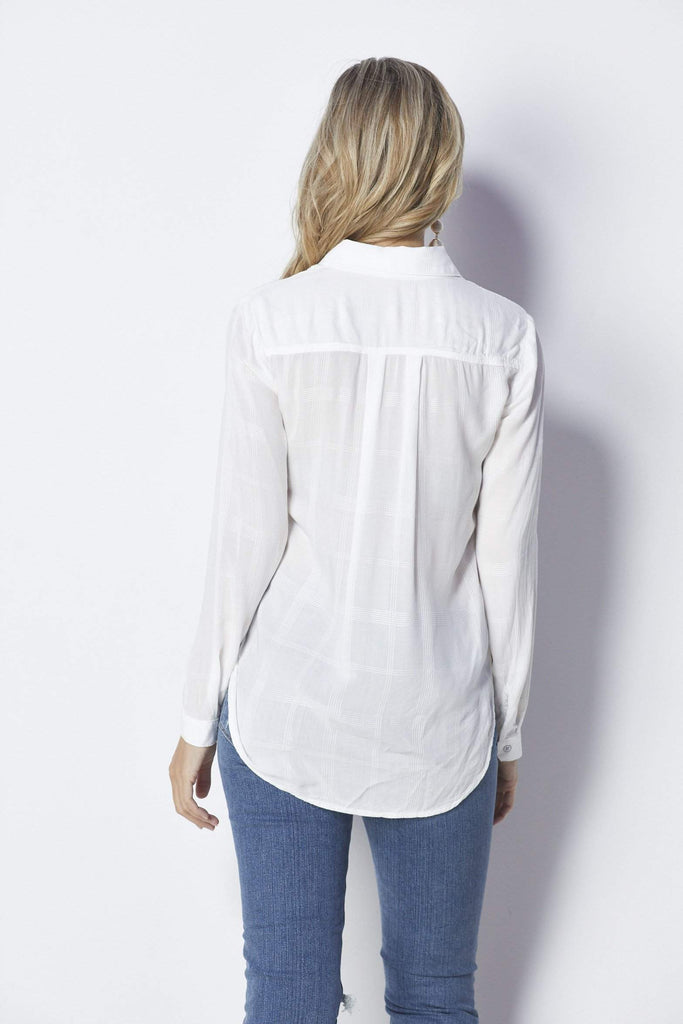 Bella Dahl High Low Button Down - Back