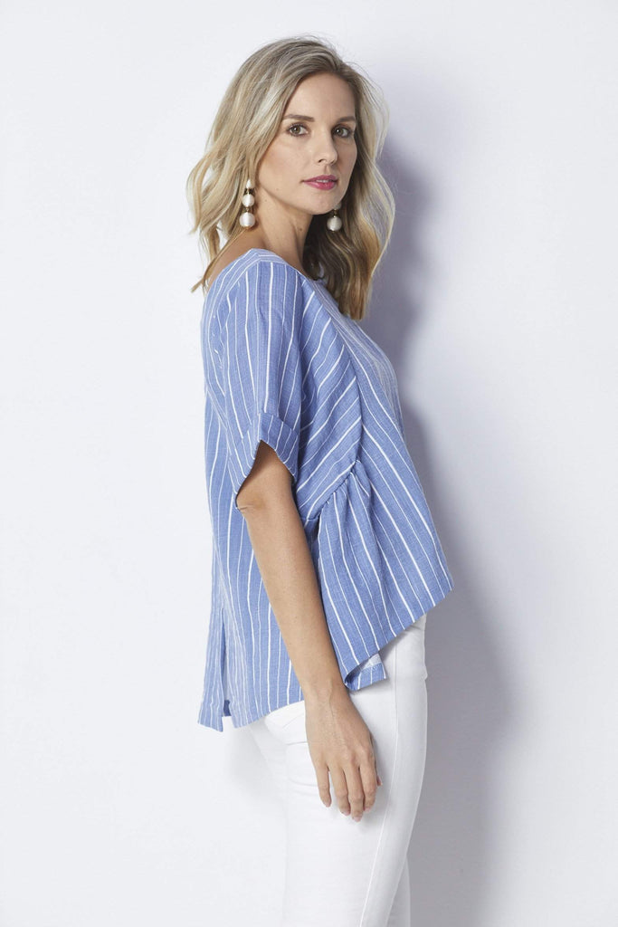 Bishop + Young Flowy Slit Back Top - Back