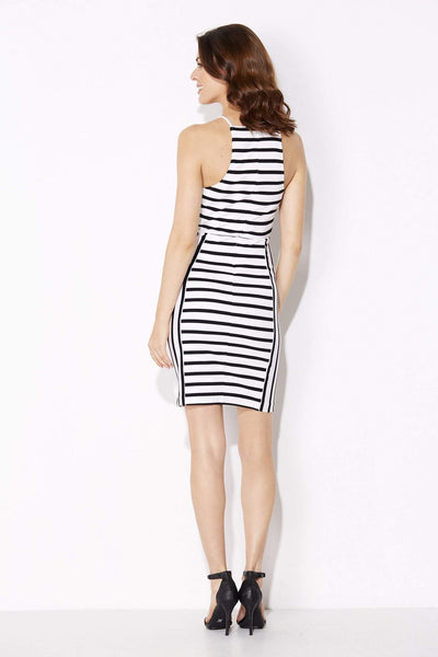 White and Black Stripe Dress