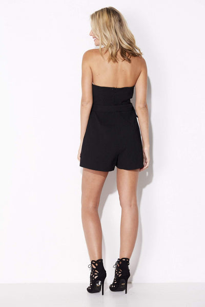 Lush - Black Tube Romper - rear