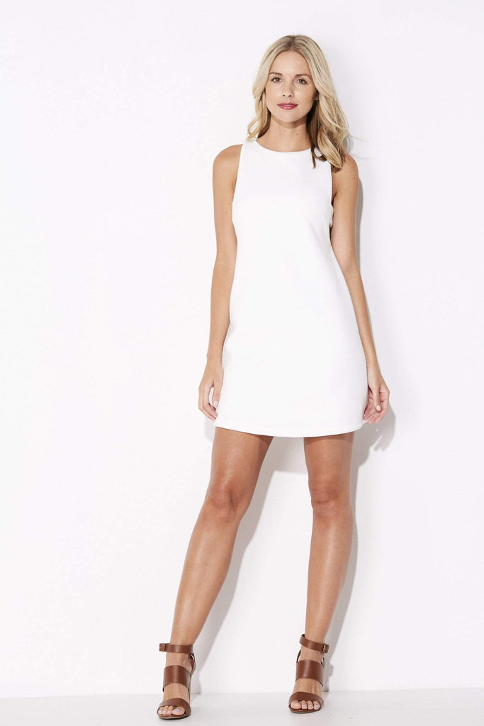Olive + Oak - White Cut Out Dress - front