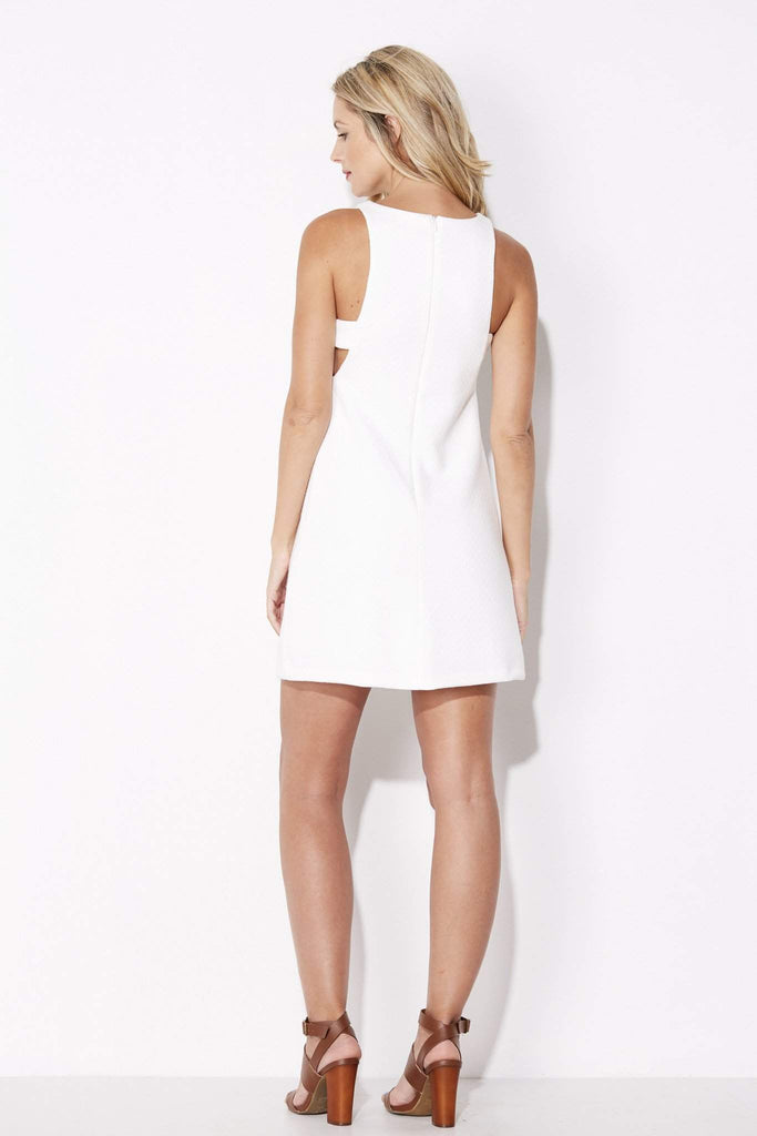 Olive + Oak - White Cut Out Dress - rear